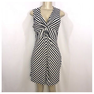 Black & White Sleeveless Midi Dress Petite Large